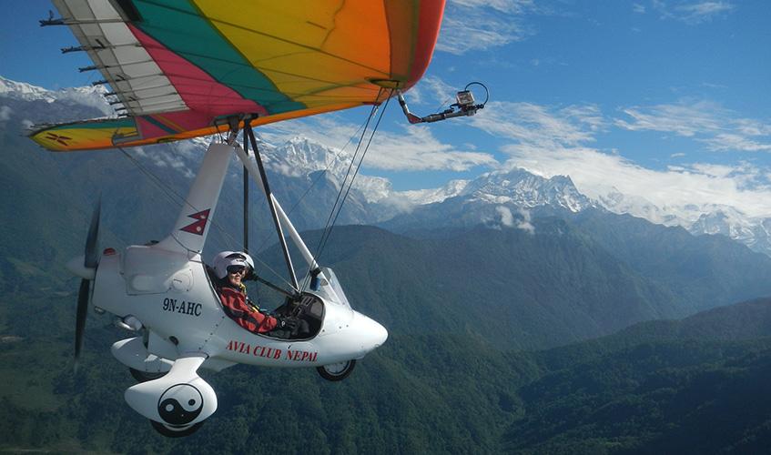 ultra light flight in Nepal